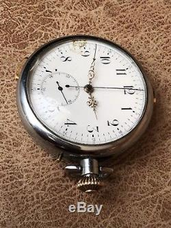 Antique Swiss Made Quarter Repeater Pocket Watch With A Chronograph Function