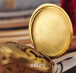 Antique Swiss Patek Philippe Pocket Watch 49mm 18K Solid Yellow Gold 3 Covers