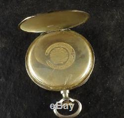 Antique Swiss Roundly Silver 0800 Pocket Watch Carved Case Ornate Scene Working