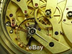 Antique Swiss Sandoz & Fils Locle 17 jewels Key wind Detent pocket chronometer