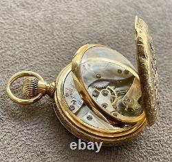 Antique Tiffany & Co. 18k Multi Color Gold Pocket Watch with Display Dust Cover