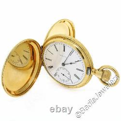 Antique Tiffany & Co. Solid 18K Yellow Gold 26s Pocket Watch with Original Box