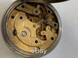 Antique Tiffany & Co. Triple Marked (Dial, Mvmt, Case) Silver Case Pocket Watch