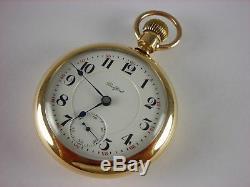 Antique VERY RARE Rockford 900 18s R. W. Kerns Rail Road pocket watch! 1899. 24j