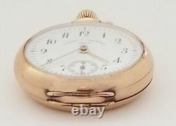 Antique Vacheron & Constantin Open Face 18K Yellow Gold Pocket Watch