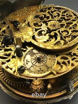 Antique Verge Fusee 17th Century Pair Cased Pocket Watch By Windmills London