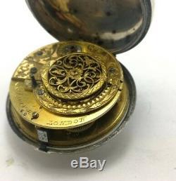 Antique Verge Fusee Movement Samson London Pocket Watch