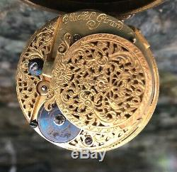 Antique Verge Fusee Pocket Watch (C. 1730's, France M. Girard), Working Condition