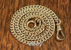 Antique Victorian 14k Gold Cuban Link Pocket Watch Chain 13.2 Grams Not Scrap