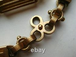 Antique Victorian 14k Solid Yellow Gold 16 Pocket Watch Vintage Chain 66g