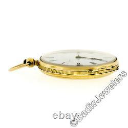 Antique Victorian 18k Gold F & A Meylan Openface Key Wind Pocket Watch ca. 1840s