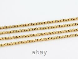 Antique Victorian 9Ct Gold Patterned Box Link Watch Guard Chain / Necklace