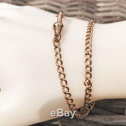 Antique, Victorian 9ct, 9k, 375 Rose Gold Watch chain, bracelet, C1885