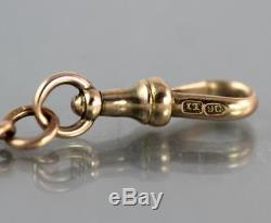 Antique Victorian Solid 9Ct Rose Gold Graduated Albert Watch Chain 32.2g