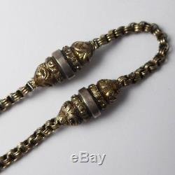 Antique Victorian Sterling Silver Albertina Watch Chain with Tassel
