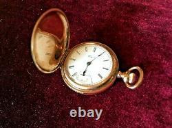 Antique Vintage Elgin Hunter Pocket Watch 1897