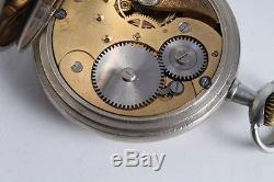 Antique Vintage Old Stunning German Made System Glashutte GUB Mens Pocket Watch