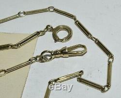 Antique Vtg 14K Gold Pocket Watch Chain Bar Links 14 3/4 10 grams