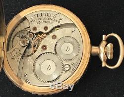 Antique WALTHAM 17 Jewel Pocket Watch 14K Solid Gold DUEBER Hunters Case