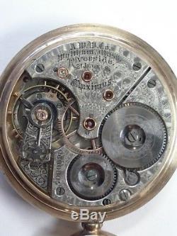 Antique Waltham 16 Size 21 J Riverside Maximus Pocket Watch PW-36