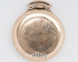 Antique Waltham 16s 21j Adj Crescent St. Pocket Watch with UP/DOWN out of Estate