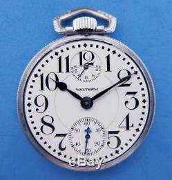 Antique Waltham 16s 23j Vanguard Up/down Indicator Railroad Pocket Watch
