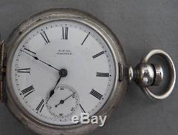 Antique Waltham 18 Size Keywind, 4 Oz Coin Hunting Case, P. S. Bartlett, U-Clean