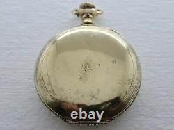 Antique Waltham R. E. Robbins 14K Gold Plated Hunter Pocket Watch Chain Rare