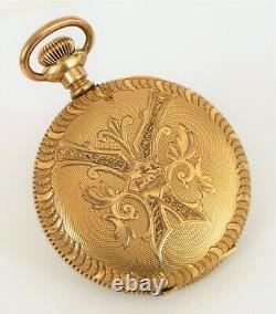 Antique Waltham Traveler J. Boss Full Hunter Case Engraved Pocket Watch 1888