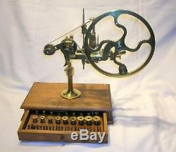 Antique Watch Making Wheel Cutting Lathe Swiss Made With Tools Best Offer