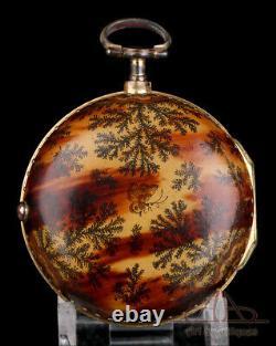 Antique William Glover Patinated Case Verge Fusee Pocket Watch. London, 1750