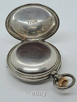 Antique Working 1883 ROCKFORD Victorian STERLING SILVER 15J RR Pocket Watch 18s