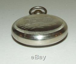 Antique Working 1883 WALTHAM 18s Silver Victorian 17J Railroad RR Pocket Watch