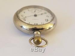 Antique Working 1883 WALTHAM Victorian Gents 18s Silver Pocket Watch