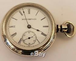 Antique Working 1899 HAMPDEN Watch Co. Victorian Gents Silver Pocket Watch 18s