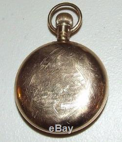 Antique Working 1904 SOUTH BEND 17J Gold G. F. Pocket Watch 18s with Fancy Dial 340