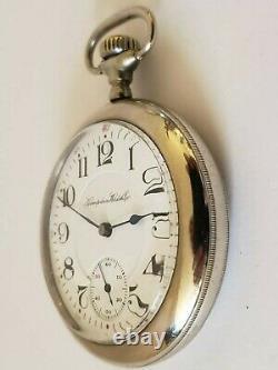 Antique Working 1911 HAMPDEN Wm. McKinley 17J Railroad RR Gents Pocket Watch 16s