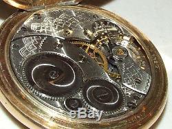 Antique Working 1918 ELGIN 17j Gents 14K Gold Pocket Watch ELGIN NATL WATCH CO