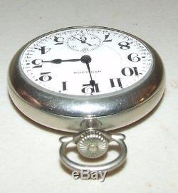 Antique Working 1924 HAMILTON 21J Railroad Grade R. R. 940 Silver Pocket Watch