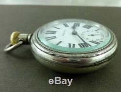 Antique ZENITH Railroad Openface 57mm Pocket Watch. Swan Neck Regulator