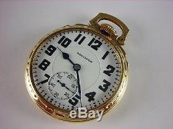 Antique all original 16s Hamilton 992 Rail Road pocket watch 1929. Model 6 case