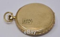 Antique c. 1920 Deco IWC Schaffhausen 14k Solid Gold Pocket Watch
