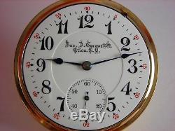 Antique original 16s Rockford Winnebago Rail Road pocket watch 1908 Lovely case