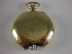 Antique original 18s Rockford 918 Rail Road pocket watch 1900. Beautiful case