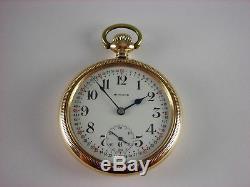Antique original E. Howard Series 11 Railroad chronometer 21j pocket watch 1915