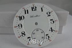 Antique original Hamilton #436 size 16 double sunk pocket watch dial for 992/950