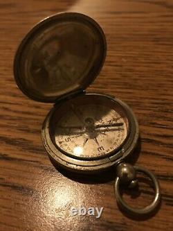 Antique pocket Compass Watch Style 1917 World War I