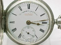 Antique pocket watch solid silver J. Graves full hunter Chester 1899