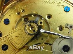 Antique rare 18s J. P. Stevens Watch Co. Pocket watch 1880. Serviced. Solid 14k