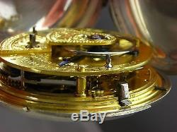 Antique rare S. I. Tobias Rack pin Lever English Fusee key wind pocket watch. 1812